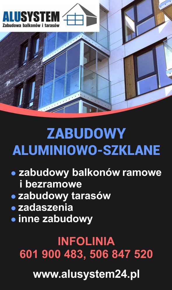 Alusystem - zabudowy balkonów i tarasów