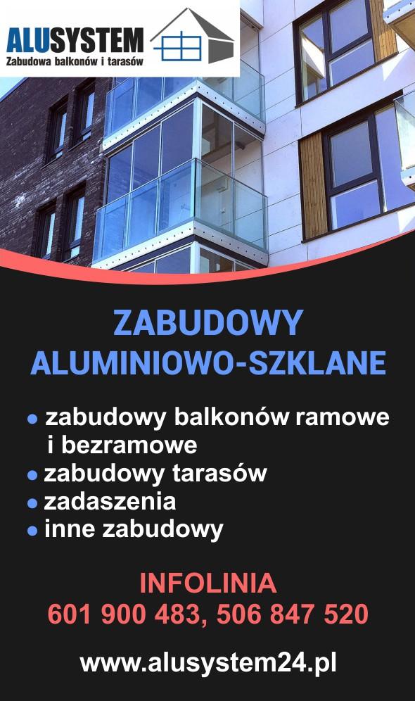 Alusystem - zabudowy balkonów i tarasów